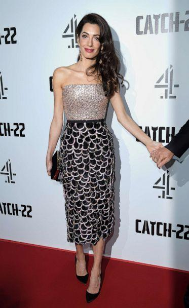 PHOTO: Amal Clooney attends the 'Catch 22' UK premiere, May 15, 2019 in London. (Karwai Tang/WireImage/Getty Images)