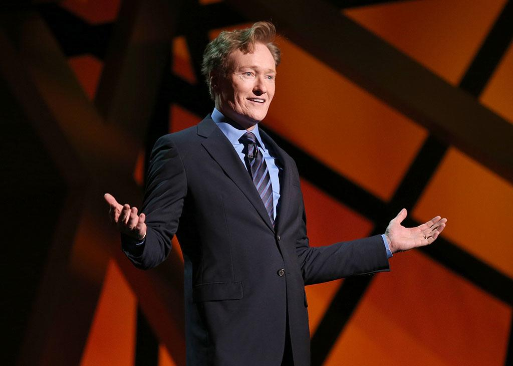 Conan O'Brien hosts the 2013 TNT/TBS Upfront at Hammerstein Ballroom on May 15, 2013 in New York City.