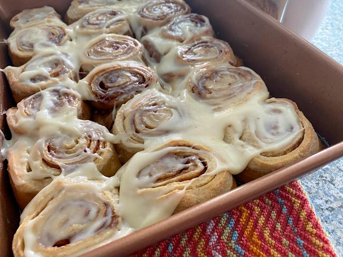 These decadent cinnamon rolls were a labor of love — but well worth it. (Terri Peters)