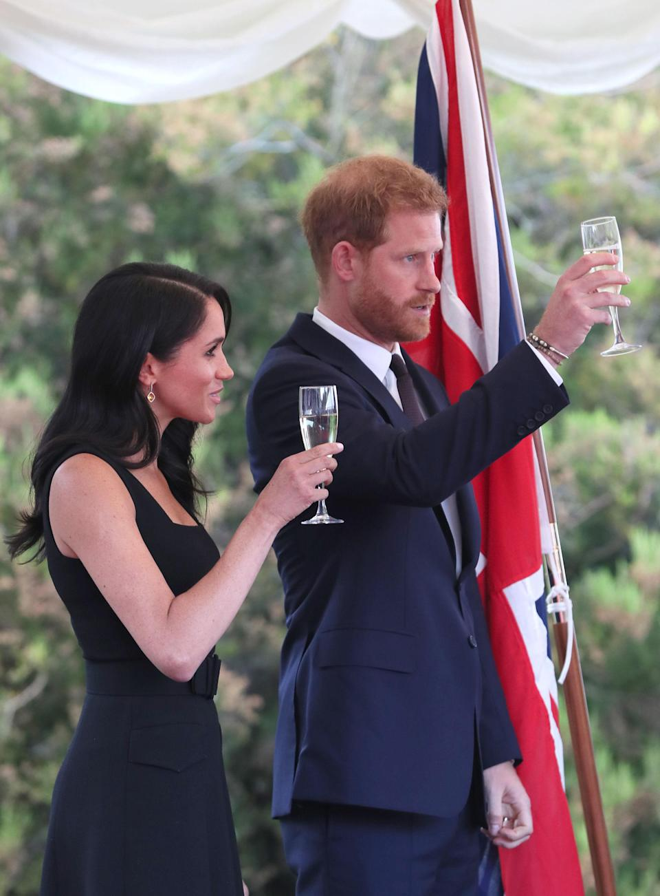 The Duke of Sussex gave a touching speech at the summer garden party [Photo: PA]