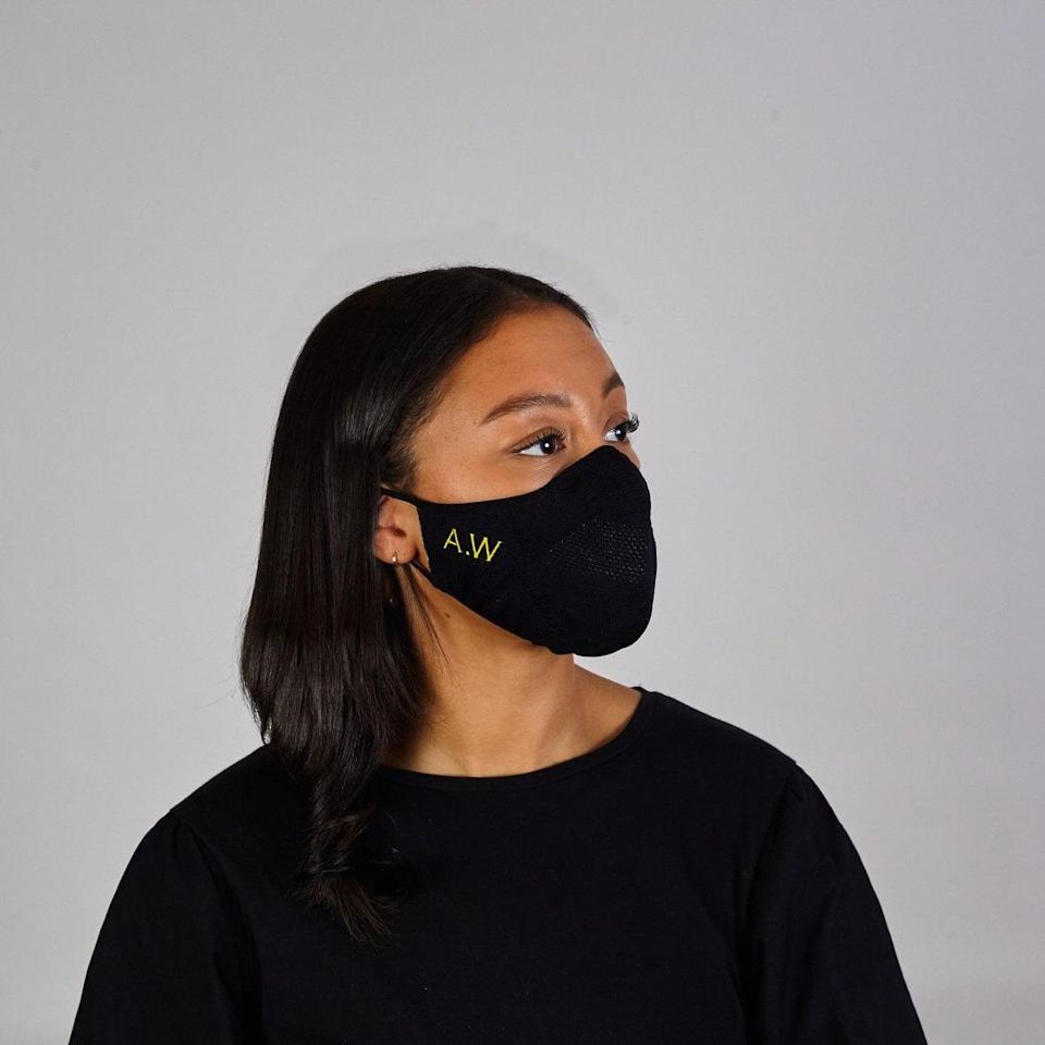 <p>This <span>NotJust Custom Embroider Face Mask</span> ($28) is made with premium, lightweight material and can be customized to your liking.</p>
