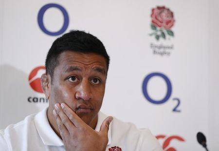 Britain Rugby Union - England Press Conference - Pennyhill Park - 16/3/17 England's Mako Vunipola during the press conference Action Images via Reuters / John Sibley