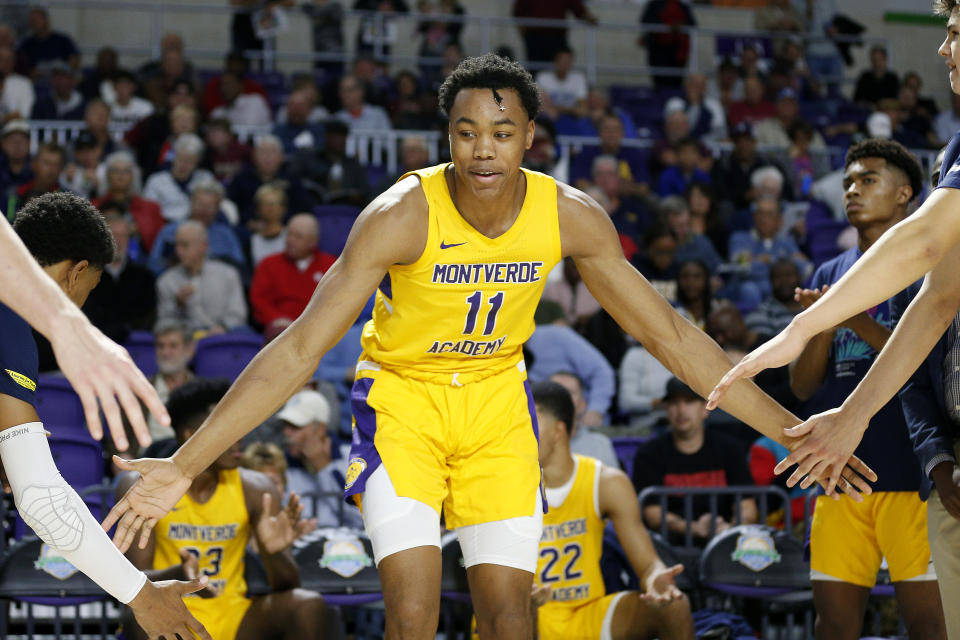 Scottie Barnes #11 of Montverde Academy in action against Sanford School during the City of Palms Classic Day 2 at Suncoast Credit Union Arena.