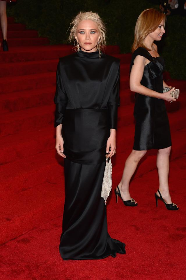 """NEW YORK, NY - MAY 07:  Mary-Kate Olsen attends the """"Schiaparelli And Prada: Impossible Conversations"""" Costume Institute Gala at the Metropolitan Museum of Art on May 7, 2012 in New York City.  (Photo by Dimitrios Kambouris/Getty Images)"""