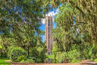 """<p><strong>Bok Tower Gardens</strong></p><p>Located in Polk County, Florida, <a href=""""https://boktowergardens.org/"""" rel=""""nofollow noopener"""" target=""""_blank"""" data-ylk=""""slk:Bok Tower Gardens"""" class=""""link rapid-noclick-resp"""">Bok Tower Gardens</a> has 250 acres of lush gardens and a 205 foot tall tower with carillon bells. It's relaxing and beautiful, which was the intention of creator Edward W. Bok, former longtime editor who desired to create a bird sanctuary while spending the winter in Florida. From subtropical temperature and plant bushes, visitors can spot up to 126 species of birds.</p>"""