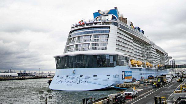 PHOTO: The Royal Caribbean Cruise Ship Anthem of the Seas is docked at Cape Liberty port on Feb. 7, 2020, in Bayonne, New Jersey.  (Eduardo Munoz Alvarez/Getty Images)