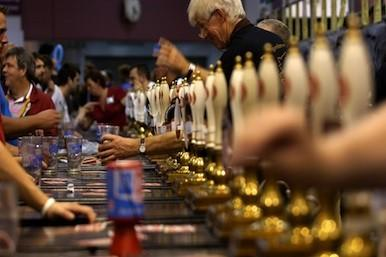Picture of beers being served
