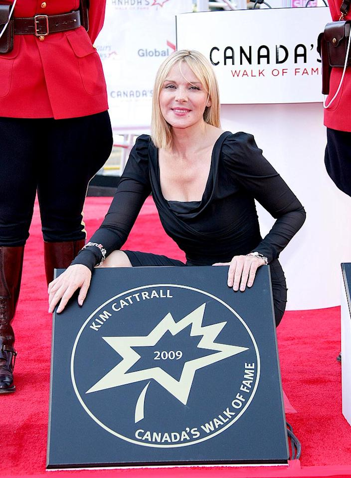 """""""Sex and the City"""" star Kim Cattrall -- who was raised in British Columbia -- received her star on Canada's Walk of Fame in September 2009. George Pimentel/<a href=""""http://www.wireimage.com"""" target=""""new"""">WireImage.com</a> - September 12, 2009"""