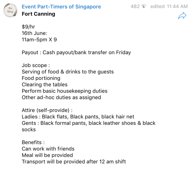Event Part-timers of Singapore