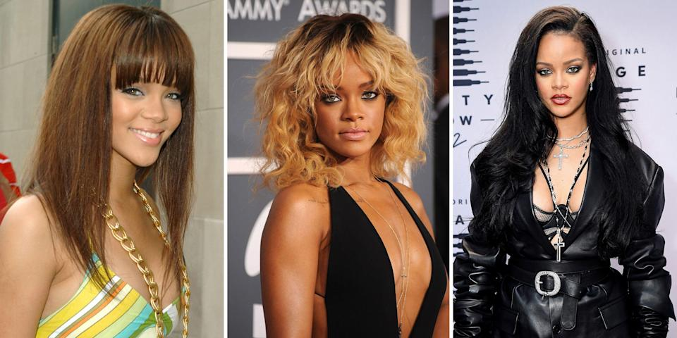 <p>We look to Rihanna for inspiration in all aspects of our lives, but especially when it comes to makeup and hair. The superstar and Fenty-founder has been a staple on our hairstyle mood board for<em> years</em>. Angled bobs, dyed faux hawks, long voluminous curls —Rihanna has killed every single hair trend. She can do no wrong. <br><br>Need proof? Take a stroll down memory lane and check out all of Rihanna's best hair looks since 2005. </p>