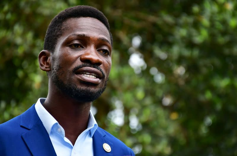 Uganda's opposition presidential candidate rejects early preliminary results in Kampala