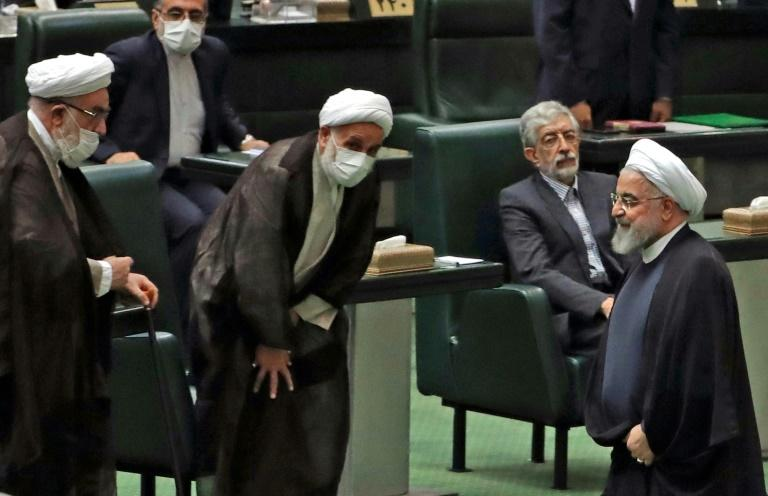 Iran's moderate President Hassan Rouhani faces a largely hostile parliament for his last 12 months in office after his conservative and ultra-conservative opponents swept a February 21 general election (AFP Photo/-)