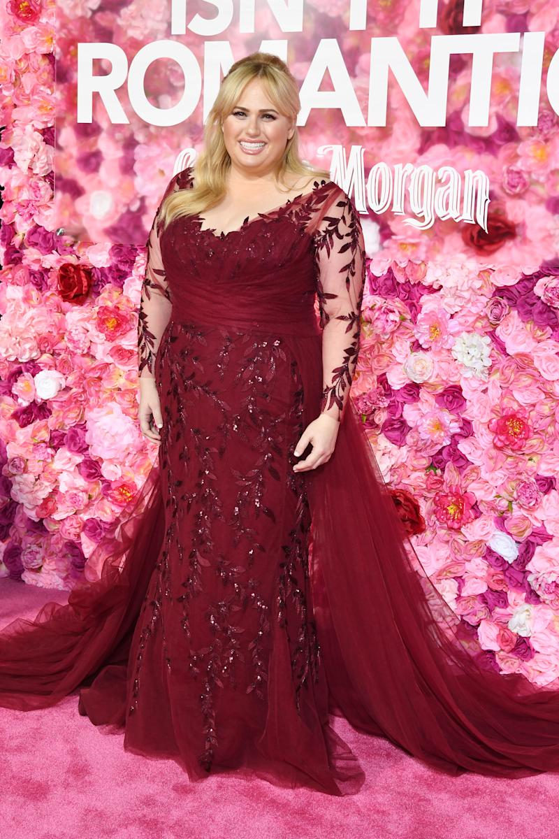 Rebel Wilson on Isn't It Romantic red carpet