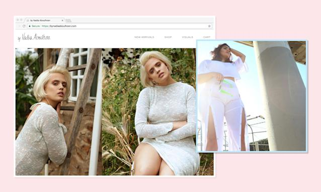 """<p><span>Wilhelmina</span>-signed model Nadia Aboulhosn launched an <a href=""""http://www.nadiaaboulhosn.com/"""" rel=""""nofollow noopener"""" target=""""_blank"""" data-ylk=""""slk:eponymous fashion line"""" class=""""link rapid-noclick-resp"""">eponymous fashion line</a> that is no different than fashion-forward regular-size lines, and one look at the <a href=""""https://www.instagram.com/nadiaaboulhosn/?hl=en"""" rel=""""nofollow noopener"""" target=""""_blank"""" data-ylk=""""slk:brand's Instagram page"""" class=""""link rapid-noclick-resp"""">brand's Instagram page</a> proves it. (Photo: by Nadia Aboulhosn/Instagram) </p>"""