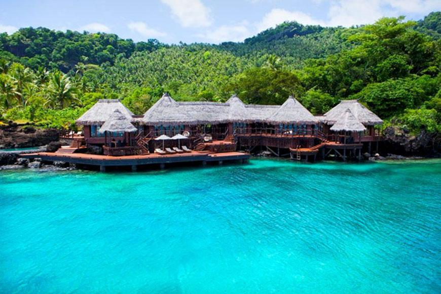 If you are dreaming of a warm tropical holiday and you've got a spare $60,000 a night to play with, then this Fijian vacay is in reach! Miranda Kerr and Evan Spiegel called the uber-exclusive Laucala Island Resort in Fiji their home away from home during their recent honeymoon.