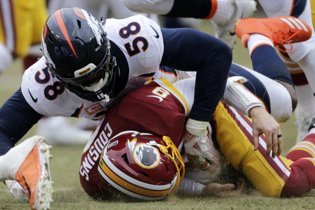 Von Miller would prefer to not line up opposite of Kirk Cousins moving forward. (AP)