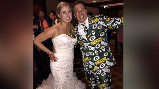 PHOTO: Green Bay super fan, Ryan Holtan-Murphy, marries woman with the last name of Packer in elaborate Packers-themed wedding. (Courtesy Ryan Holtan-Murphy)