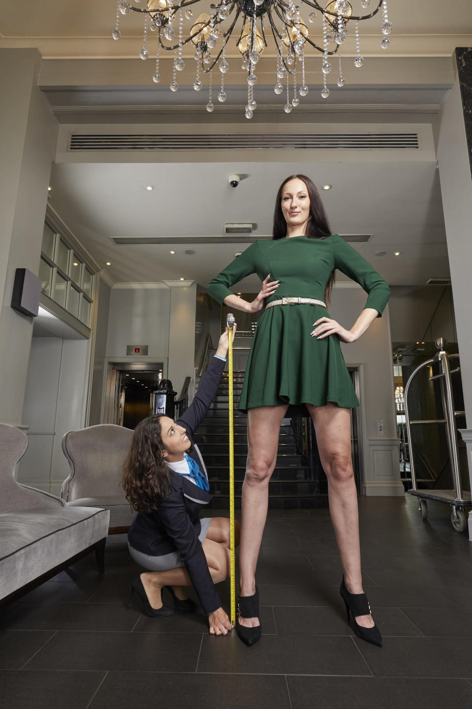 <p>At 6'9, Ekaterina Lisina has the record for the Longest Legs and being the Tallest Model. (PA) </p>