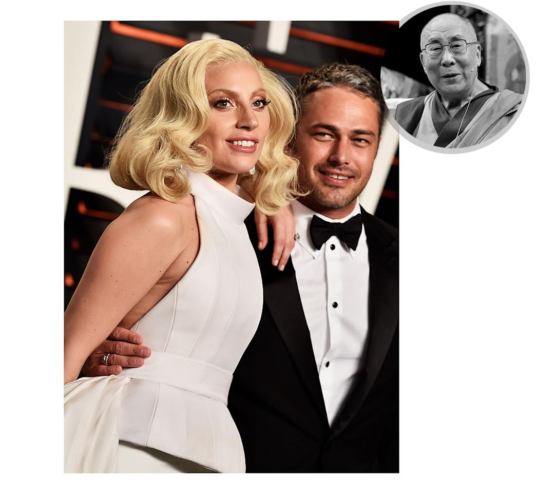 <p>If the reports are true, Gaga and her actor beau will soon be wed by the Tibetan holy man. (Photos: Getty Images) </p>