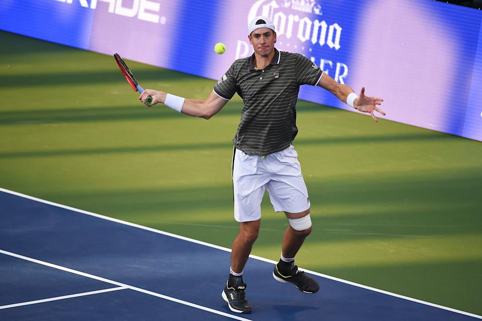American John Isner reached a deal with a CBD sports drink company this week, becoming the first tennis player to do so.