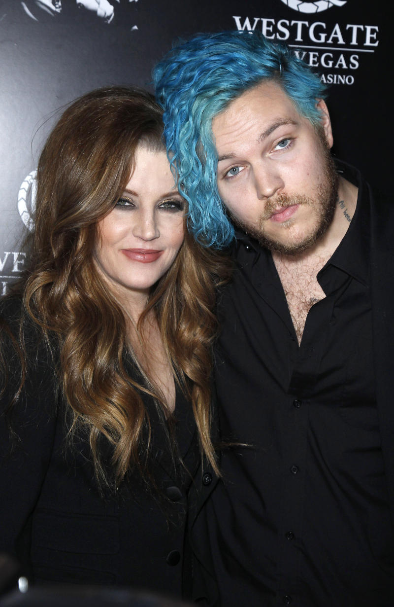 "Benjamin Keough, Son of Lisa Marie Presley and Grandson of Elvis Presley, Dead at 27 From Apparent Suicide. File photo: 23 April 2015 - Las Vegas, Nevada - Lisa Marie Presley, Benjamin Keough. Red Carpet Premiere of ""The Elvis Experience"" Musical Production at The Westgate Las Vegas Resort and Casino. Photo Credit: MJT/AdMedia/MediaPunch /IPX"