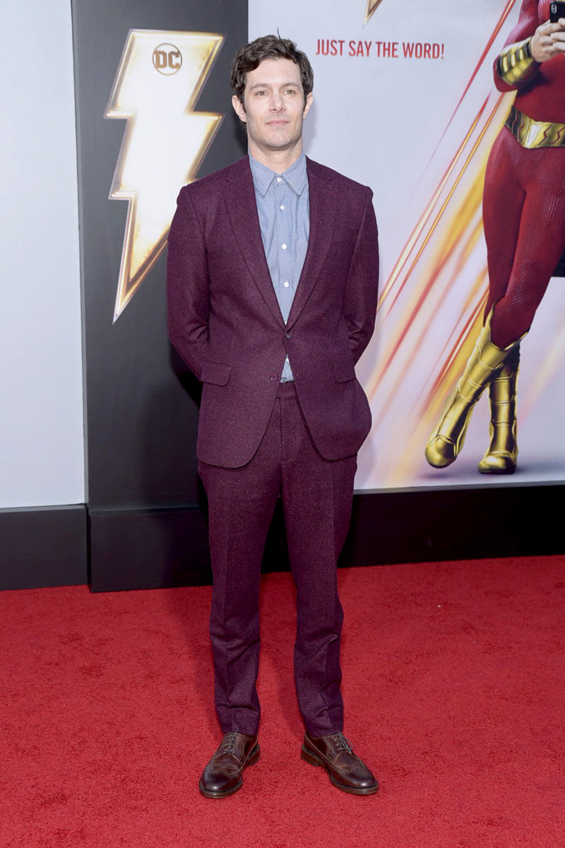"HOLLYWOOD, CALIFORNIA - MARCH 28: Adam Brody attends the Warner Bros. Pictures And New Line Cinema's World Premiere Of ""SHAZAM!"" at TCL Chinese Theatre on March 28, 2019 in Hollywood, California. (Photo by Michael Tullberg/Getty Images)"