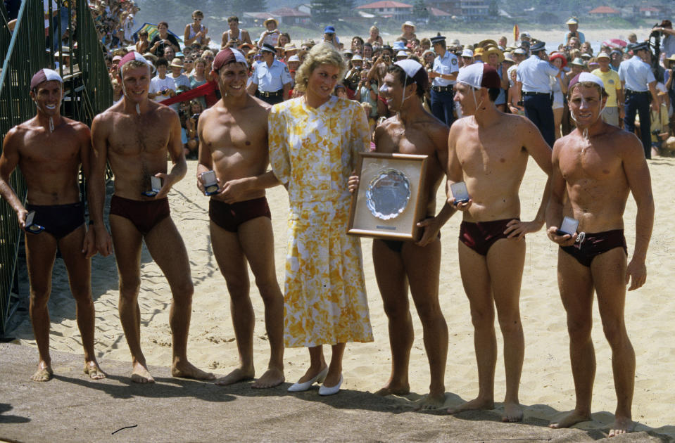 Likewise, Princess Diana left her heels on while visiting the NSW beach of Terrigal back in 1983. Photo: Getty