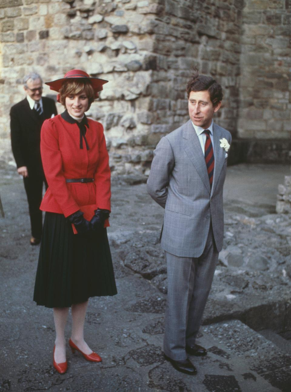 Prince Charles and Diana at Caernarvon Castle in 1981Getty Images