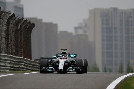 Formula One - F1 - Chinese Grand Prix - Shanghai, China - April 13, 2018 - Mercedes' Lewis Hamilton during practice. REUTERS/Aly Song