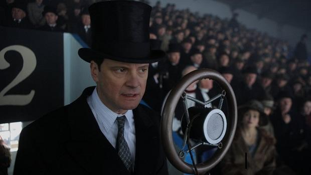 <p> In 1936 King Edward VIII abdicated the throne and ran off with American socialite Wallis Simpson. His replacement was Edward's shy and stuttering brother, King George VI, who could barely string a sentence together and became almost mute in public. Geoffrey Rush steals the show as wacky speech therapist Lionel Logue, who coaches the King (Colin Firth) through his affliction. Expect a lot of funny noises coming from Firth and Rush who bounce off each other brilliantly in this four time Oscar winner. </p>