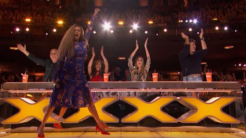 Tyra Banks Presses Golden Buzzer for Amazing Acrobatic Dance Group on 'America's Got Talent' Premiere