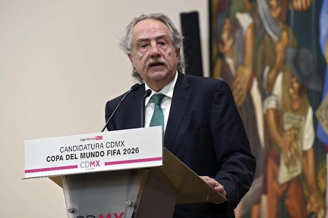 Mexican Football Federation chief Decio de Maria, seen in January 2018, will lead the Unity 2026 joint Canada-US-Mexico FIFA World Cup bid, along with USSF president Carlos Cordeiro and Canada Soccer Association president Steve Reed (AFP Photo/ALFREDO ESTRELLA)