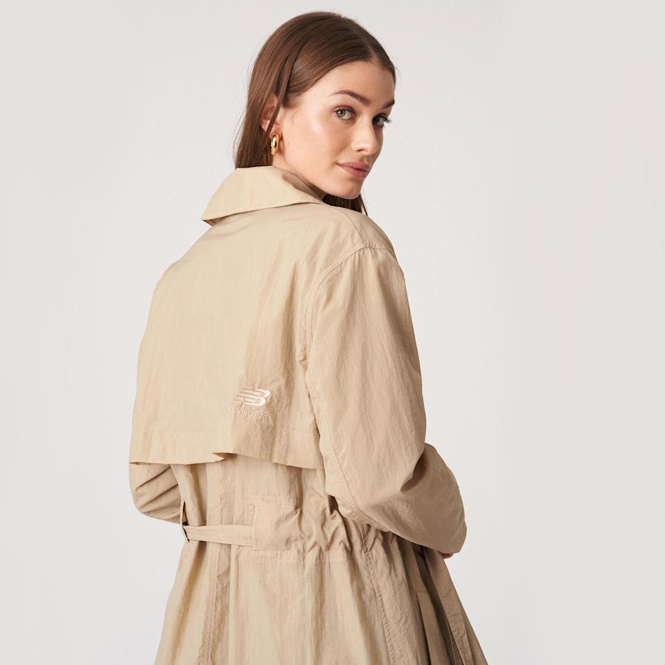 A trenchcoat is part of the New Balance x Bandier collaboration. - Credit: Courtesy Photo