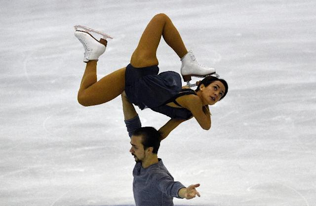 Russians Ksenia Stolbova and Fedor Klimov compete during the ISU Grand Prix of Figure Skating Final 2015 in Barcelona on December 11, 2015 (AFP Photo/Lluis Gene)