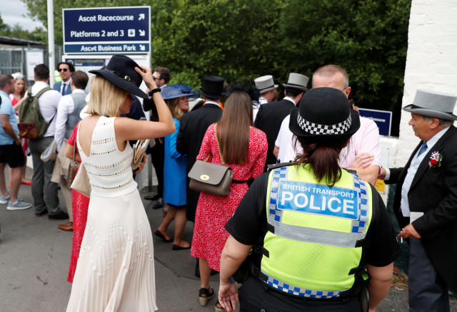 Horse Racing - Royal Ascot - Ascot Racecourse, Ascot, Britain - June 19, 2018 General view of racegoers before the start of the races REUTERS/Paul Childs