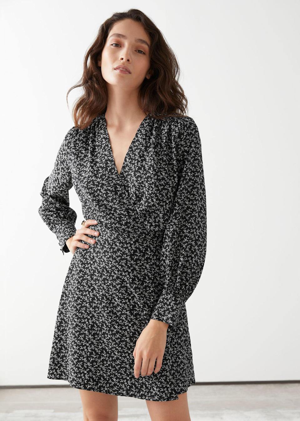 <p>This <span>&amp; Other Stories Mini Wrap Dress</span> ($44, originally $89) will look great with strappy heels or Keds sneakers.</p>