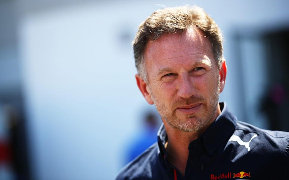 Christian Horner talks to the media at the Hungary Grand Prix - GETTY IMAGES EUROPE
