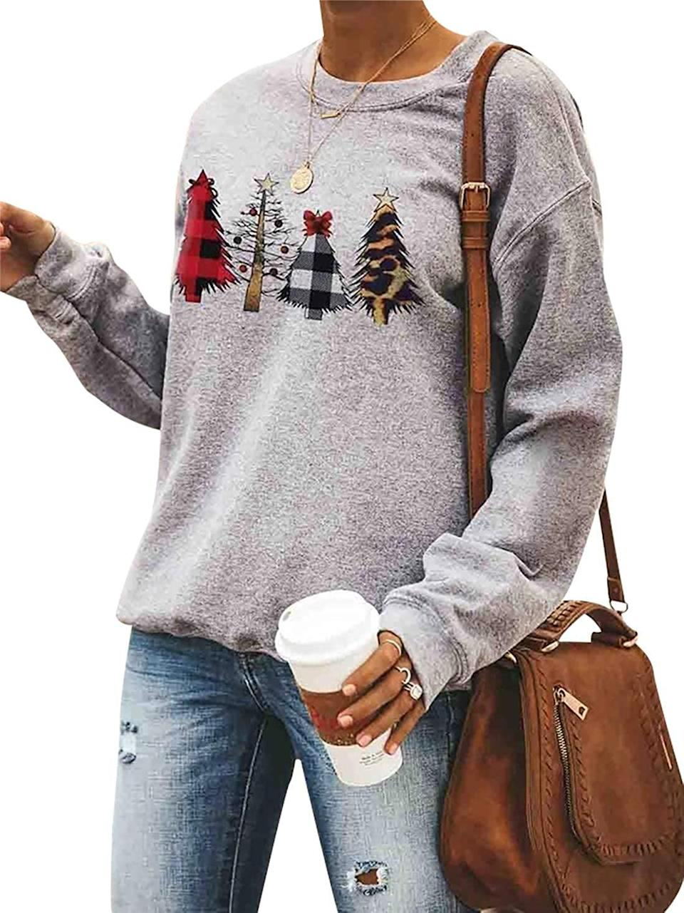 <p>You'll want to throw on this cute <span>Merry Christmas Sweatshirt</span> ($14-$21) wherever you go.</p>