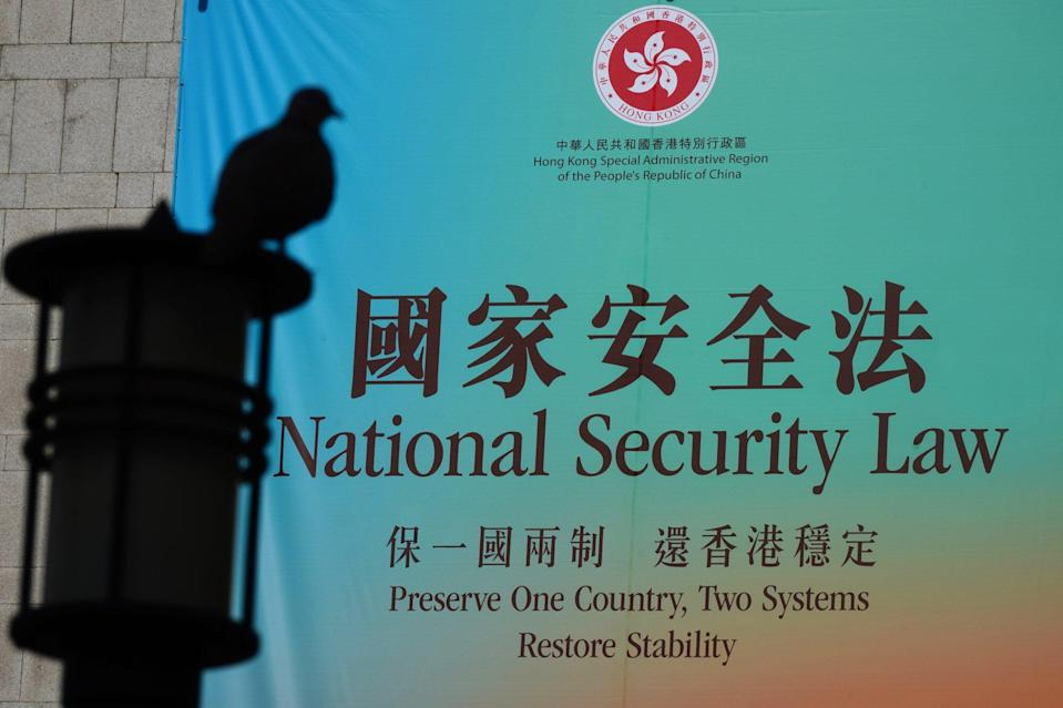 The national security law took effect in Hong Kong last June. Photo: Sam Tsang