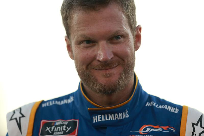 Dale Earnhardt Jr. racing at Darlington, despite plane crash