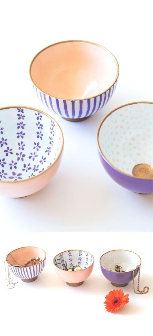 """<p>Mom can use these mini decorative bowls for snacks or as a jewelry catch-all. </p><p><em><strong>Get the tutorial from <a href=""""https://thelovelydrawer.com/a-bowl-full/"""" rel=""""nofollow noopener"""" target=""""_blank"""" data-ylk=""""slk:The Lovely Drawer"""" class=""""link rapid-noclick-resp"""">The Lovely Drawer</a>. </strong></em></p><p><strong><a class=""""link rapid-noclick-resp"""" href=""""https://www.amazon.com/DOWAN-Ounces-Porcelain-Dessert-Dishes/dp/B00XNAIOFC/ref=sr_1_3?dchild=1&keywords=PORCELAIN+RICE+BOWL&qid=1605822409&sr=8-3&tag=syn-yahoo-20&ascsubtag=%5Bartid%7C10063.g.34832092%5Bsrc%7Cyahoo-us"""" rel=""""nofollow noopener"""" target=""""_blank"""" data-ylk=""""slk:SHOP RICE BOWLS"""">SHOP RICE BOWLS</a></strong></p>"""