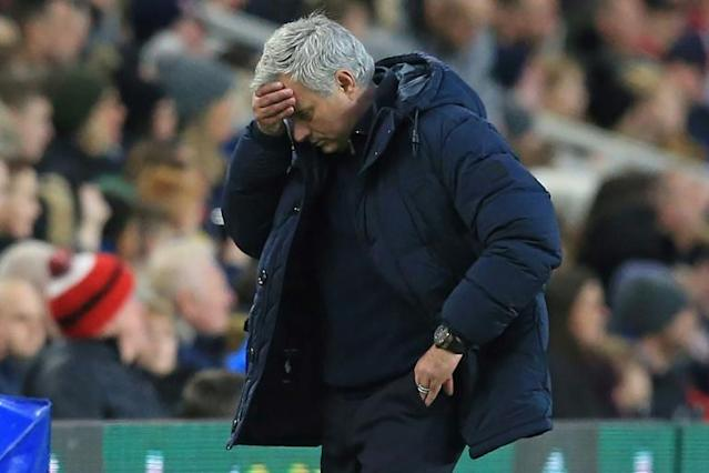 Back to square one: Tottenham's bright start under Jose Mourinho has dissipated (AFP Photo/Lindsey Parnaby)