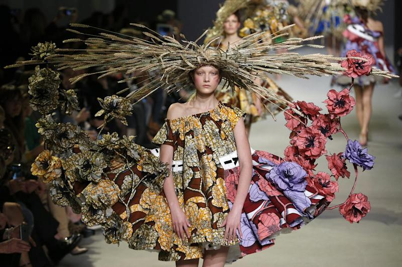 Vlisco's signature African-inspired wax prints, here at the Viktor&Rolf Haute Couture SS15 show.