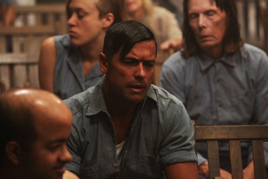 "Mark Consuelos as Spivey in the ""American Horror Story: Asylum"" episode, ""Nor'easter."""