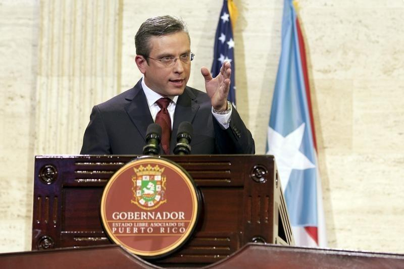 Puerto Rico's Governor Padilla delivers his state of the Commonwealth address at the Capitol building in San Juan, Puerto Rico
