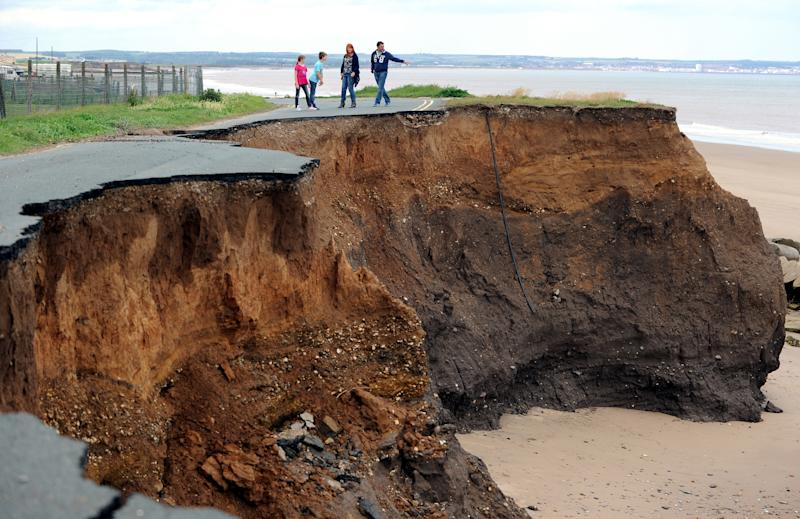 Dozens of people in Skipsea will lose their homes to the sea on the fastest disappearing coastline in North West Europe (Picture: PA)