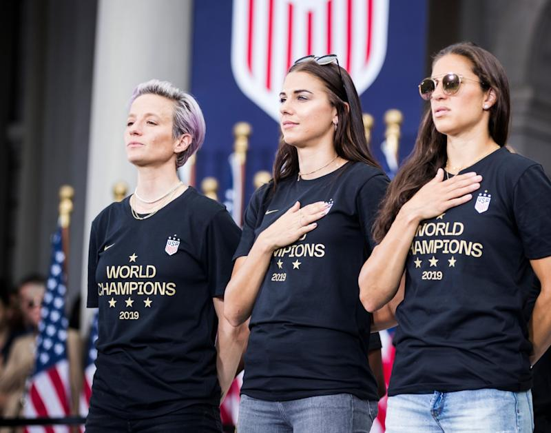 The USWNT and U.S. Soccer can cause real change in the way FIFA treats women's soccer. Here's what they must do. (Photo by Ira L. Black/Corbis via Getty Images)
