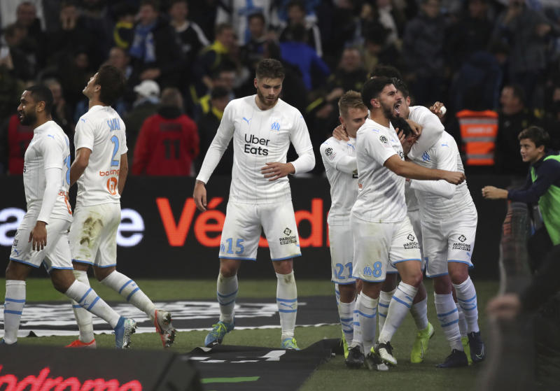 Marseille beats Brest 2-1 to move 5 points behind leader PSG
