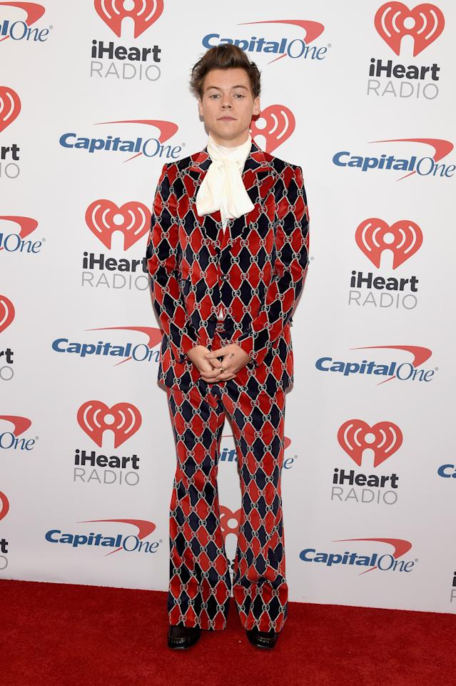 <p>Harry's penchant for loud Gucci suits and true rock 'n' roll style has earned him the number two spot. We only wish we could work a flare as well. <i>[Photo: Getty]</i> </p>