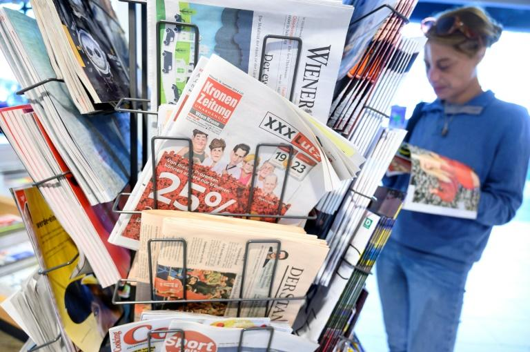 The 'Ibiza-gate' corruption scandal cost Austria's far-right its place in government, but also the support of the country's most powerful newspaper, the tabloid Kronen Zeitung (AFP Photo/JOE KLAMAR)